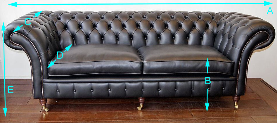 Balmoral Chesterfield sizes