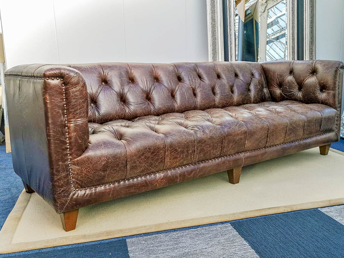 Parliament Chesterfield Vintage Distressed Brown leer