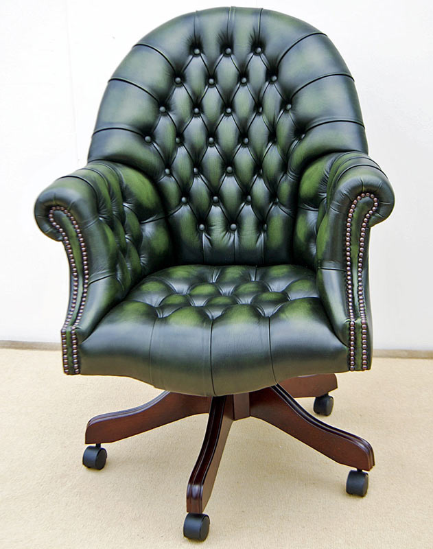 Directors swivel antique green