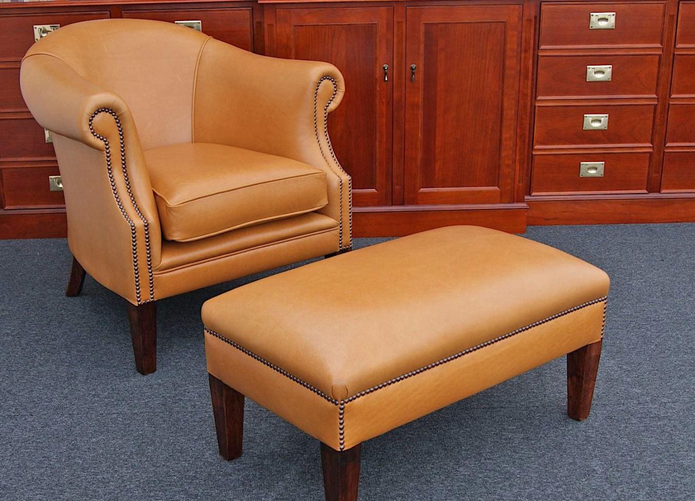 Tiffany chair & hocker