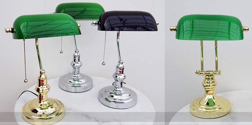 English Decorations – Bankerlampe original grün - Online kaufen - große Auswahl.
