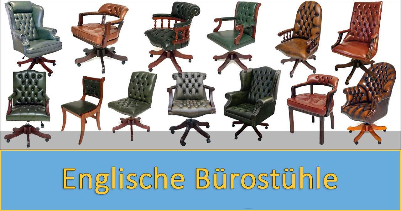Klassische englische Bürostühle