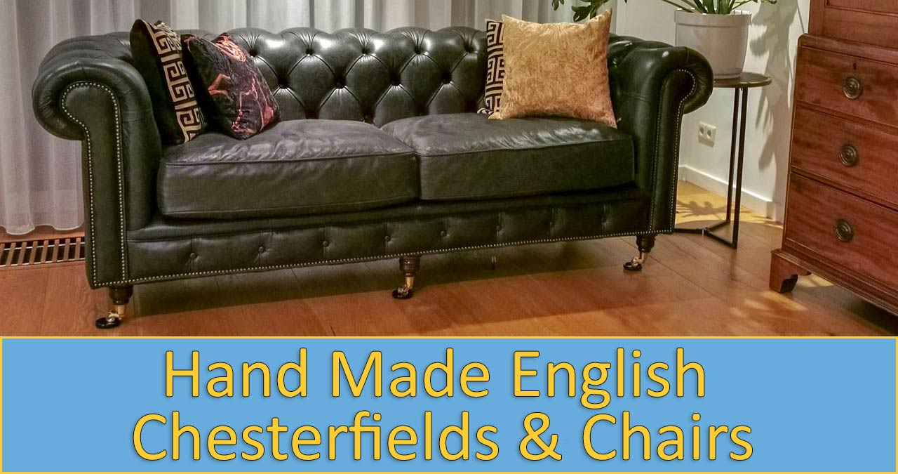 English Chesterfield sofas and chairs