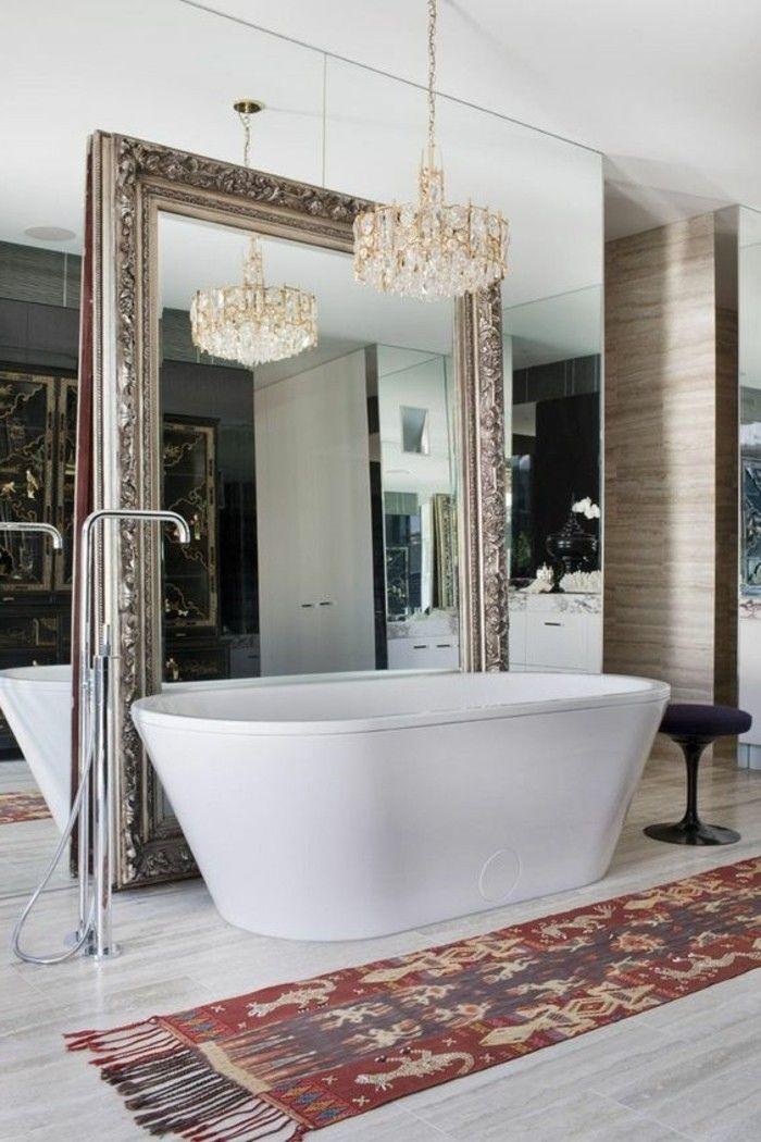 grote barok zilver spiegel Venice voor badkamer