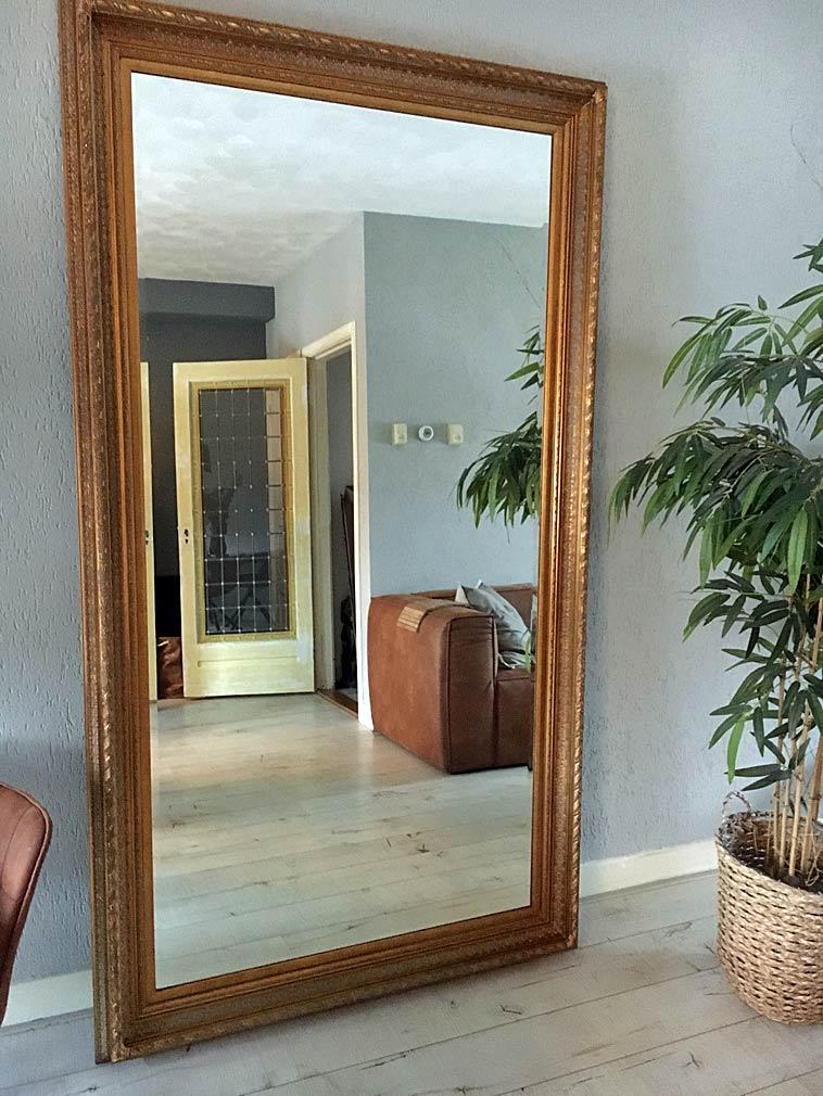 Grote staande spiegel Berlin antiek goud