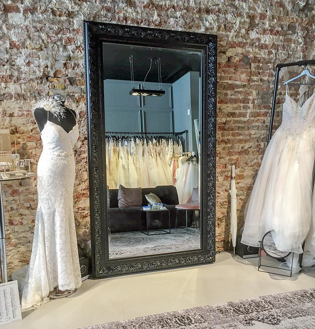 grand miroir mural Venice noir