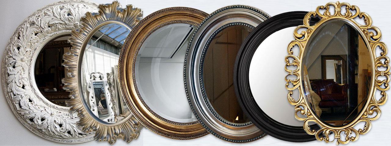 ronde barok spiegels