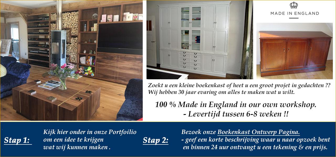 Engelse boekenkasten en meubelen op maat