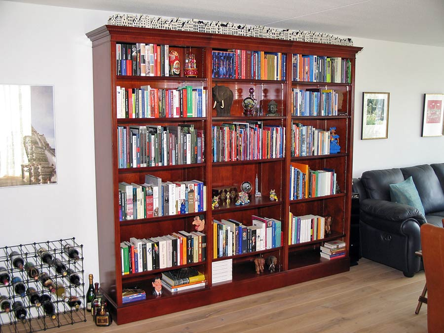 op maat kersen open boekenkast