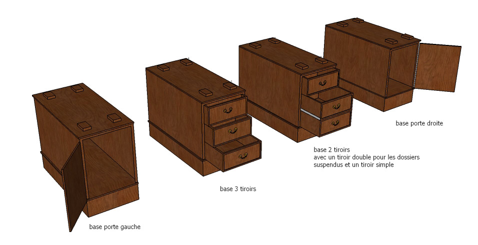 Desk base options