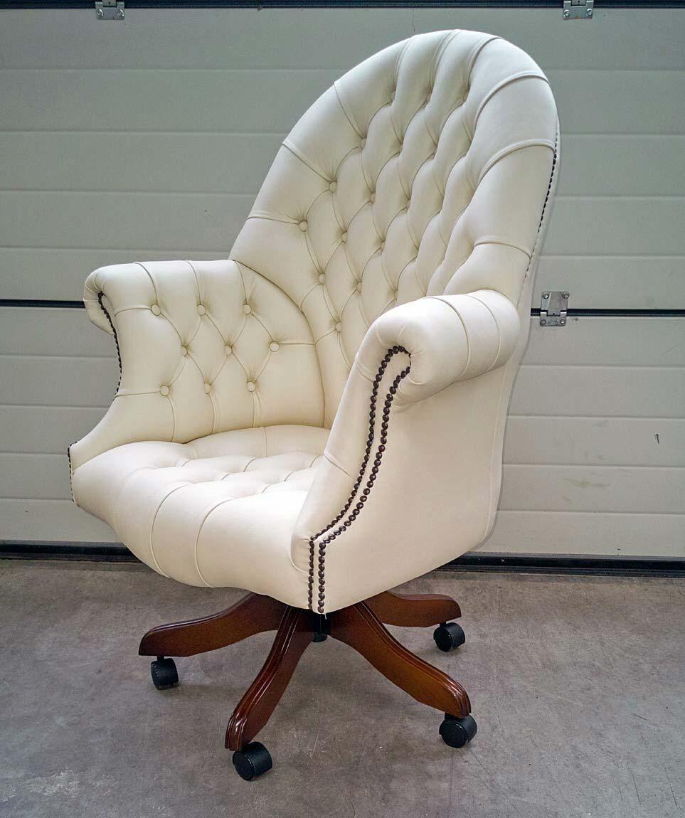 engelse witte bureaustoel Directors Chair