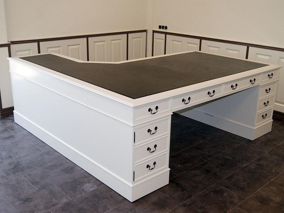 bespoke white corner desk