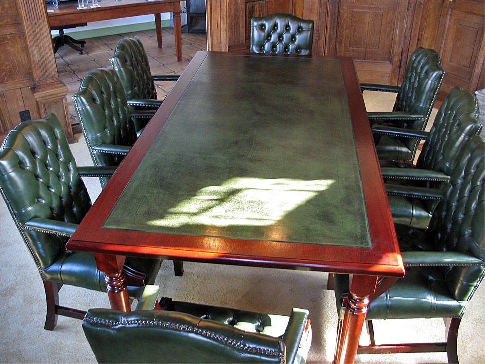 mahogany bespoke conference table