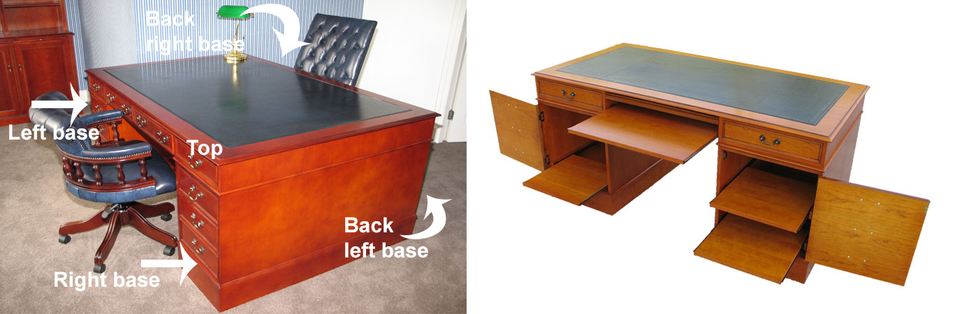 partners desk base options